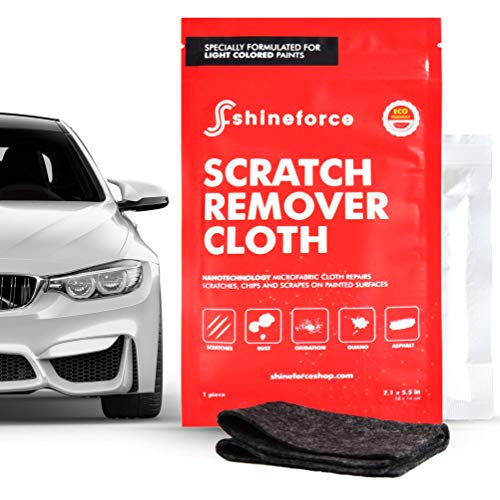 ShineForce - Car Scratch Remover Kit for Paint Repair & Scuff Remover, Car Scratch Removal Cloth with Magic Nano Technology to Fix and Eliminate Minor Car Scratches for White and Light Paint (Black)