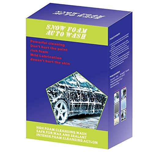 Plextone Espuma de nieve con olor a melocotón de miel para lavado automático, espuma súper gruesa y no cáustica, extremadamente potente y fácil de usar