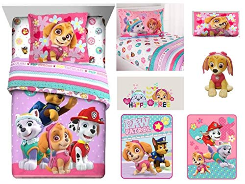 Buy Discount Paw Patrol Gangs All Here Kids 9 Pc Kids Bedding Ensemble: Includes twin/full comforter...
