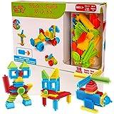 Learning Minds Stick 'n Build 116 Unidades de Bloques de construcción: apilamiento de Lad...