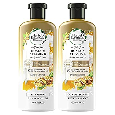 Herbal Essences, Sulfate Free Shampoo and Conditioner Kit With Natural Source Ingredients, BioRenew Honey & Vitamin B, Color Safe, 13.5 & 12.2 fl oz, Kit from Procter & Gamble - HABA Hub