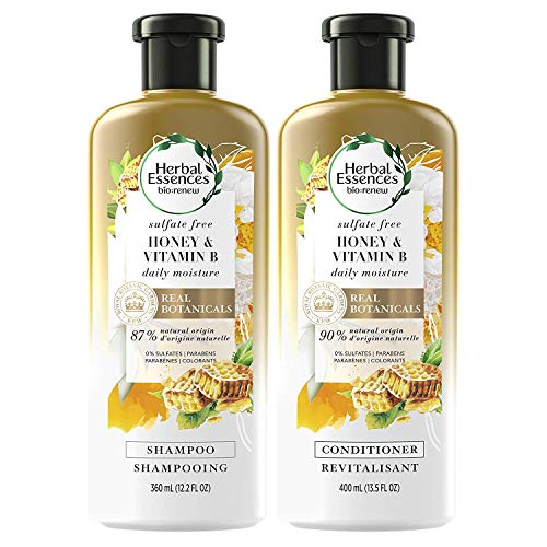 Herbal Essences Sulfate Free Shampoo and Conditioner Kit With Natural Source Ingredients BioRenew Honey amp Vitamin B Color Safe 135 amp 122 fl oz Kit