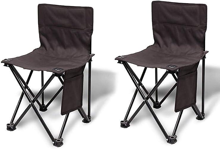 Chaise De Camping Portative Se Pliant Pour Extérieur Camping Barbecue Pique-nique Pêche Plage Voyage Festival (Taille   S, UnitCount   2 Pcs)