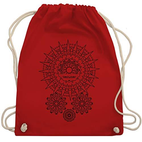 Shirtracer Boheme Look - Boho Mandala Yoga - Unisize - Rot - WM110 - Turnbeutel und Stoffbeutel aus Bio-Baumwolle