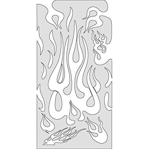 Stencil Artool Flame Medium