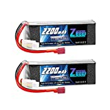 Zeee 3S LiPo Battery 2200mAh 11.1V 35C Soft Case Battery with Deans T Connector for DJI Airplane RC Quadcopter Helicopter Drone FPV (2 Pack)