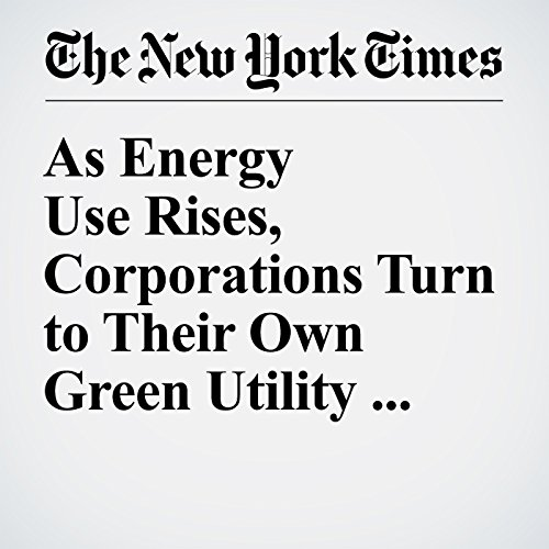 As Energy Use Rises, Corporations Turn to Their Own Green Utility Sources audiobook cover art