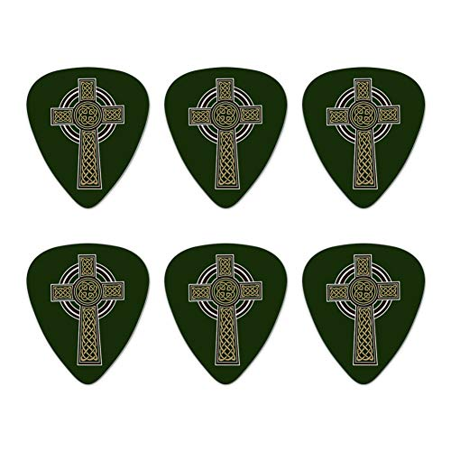 Celtic Christian Cross Irish Ireland Novelty Guitar Picks Medium Gauge - Set of 6
