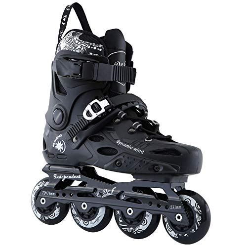 Wwwly Sports Inline Skates Adult, Black Stylish Design Beginner Roller Skates for Boys and Girls,Black,39EU