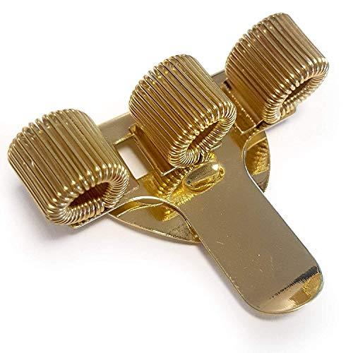 OMG Portapenne triplo con clip per taschino, in metallo, ideale per dottori, infermieri e piloti, color oro (confezione da 1)
