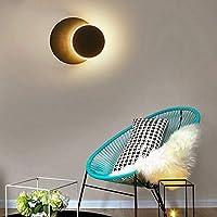 WEM 壁の装飾の壁のライト、360°回転モダンなLedラウンドアイルランプベッドルームライトダイニングルームスタディランプバルコニー強い光透過率ブラックウォールランプ