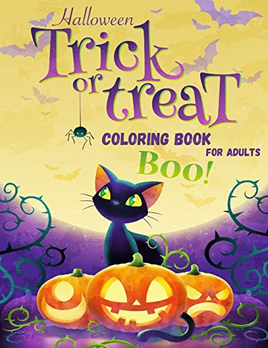 Halloween Coloring Book for Adults: Fun Colouring Scary Horror Spooky Fantasy Creatures, Entertainment Activity book for adult for Stress Relieve and ... present for adults women men teenager teens