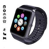 MallTEK Smartwatch Bluetooth mit TF SIM-Kartenslot, Smart Uhr 1.54 Zoll, Sport-Armband mit Whatsapp, Funktionen Kamera