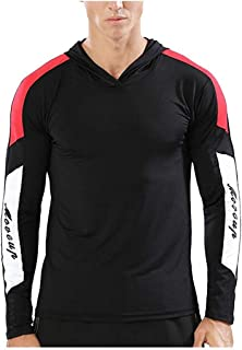DBSCD Fashion Clothing,Men Shirt Fitness Print Long Sleeve Hooded Bodybuilding Tight-Drying Tops Blouses Pullover