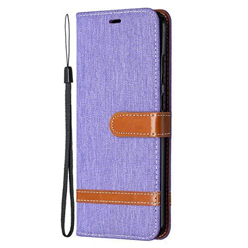 Generic Handyhülle für Nokia 5.3 Hülle Leder Schutzhülle Brieftasche mit Kartenfach Magnetisch Stoßfest Handyhülle Case für Nokia 5.3 - XIBIF021265 Violett