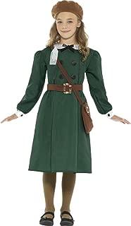 Sportsgear US Girls Fancy Party Dress Book Week Day World War WW2 Evacuee Girl Costume