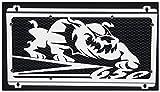Protezione radiatore/copri radiatore Kawasaki Z650 20172018. design Bulldog + grata anti ghiaietto nera