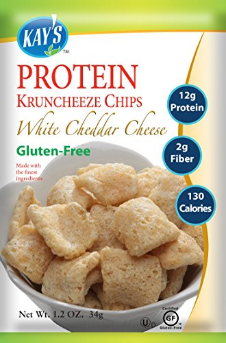 Kay's Naturals Protein Kruncheeze, White Cheddar Cheese, Gluten-Free, Low Fat, Diabetes Friendly All Natural Flavorings, 1.2 Ounce (Pack of 60)