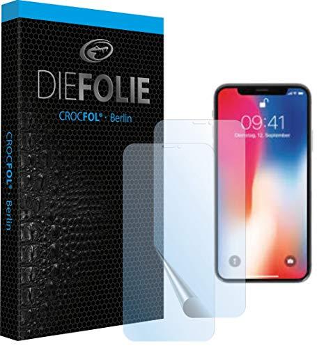 Crocfol Schutzfolie vom Testsieger [2 St.] kompatibel mit Apple iPhone XR - selbstheilende Premium 5D Langzeit-Panzerfolie - für vorne, hüllenfreundlich
