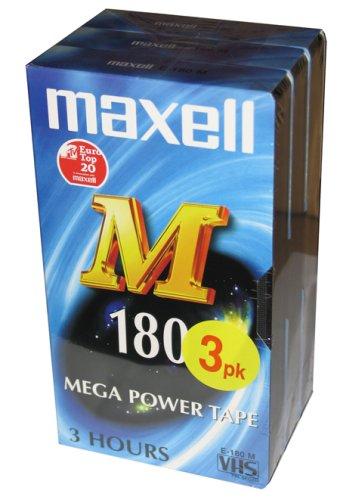 Maxell M180 3 - PK Video Cassette 180 min 3 Pieza(s) - Cinta de Audio/Video (180 min, 3 Pieza(s))
