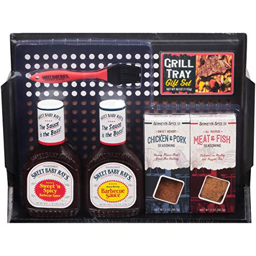 Sweet Baby Ray's Grill Tray, 6 Piece Gift Set