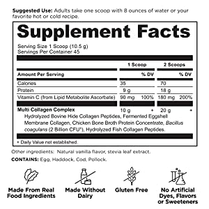 Ancient Nutrition Multi Collagen Protein Powder Vanilla 475 Grams