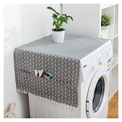 Kühlschrank Staub Cover Mehrzweck-Waschmaschine Top Kühlschrank Staub Proof Cover grau