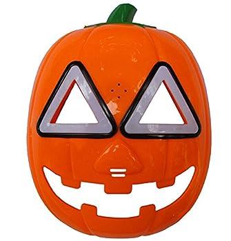 REINDEAR Halloween Pumpkin Mask LED Light Cosplay Mask Orange