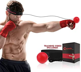 Champs Boxing Reflex Ball Boxing Equipment Fight Speed, MMA Boxing Gear Pro Punching Ball - Great for Reaction Speed and H...