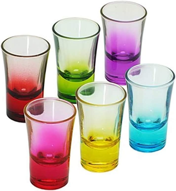 Shot Glasses Set Colored New York Mall Dr 2021new shipping free Cute