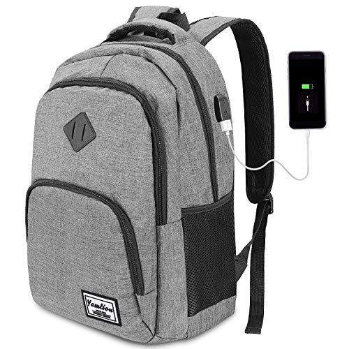 YAMTION Laptop Backpack,Unisex 35L Business Notebook Backpack with USB Charging Port Water Resistant College Backpack for 15.6 Inch Laptop