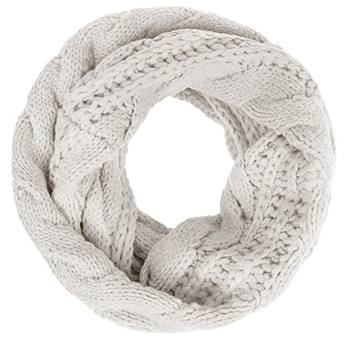 Senker Women Winter Warm Thick Knitted Infinity Circle Loop Scarf A18