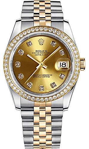 Rolex Datejust 36 Diamond Yellow Rolesor Jubilee Bracelet Luxury Watch (Ref. 116243)
