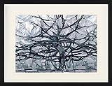 1art1 Piet Mondrian - Der Graue Baum, 1912 Gerahmtes Bild