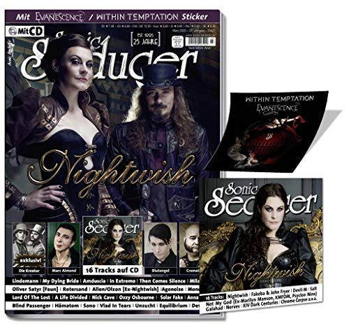 Sonic Seducer 03-2020 Nightwish + Song auf CD-Beilage, Within Temptation / Evanescence-Sticker, exklusiv Die Kreatur (feat. Lord Of The Lost + ... (Lord Of The Lost + Oomph!) exklusiv u.v.m.