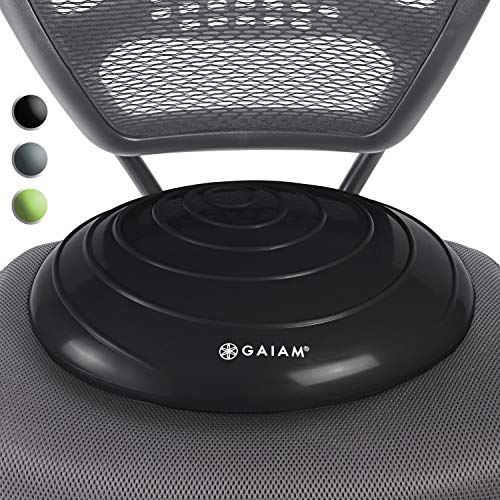 Best Buy! Gaiam Balance Disc Wobble Cushion Stability Core Trainer For Home Or Office Desk Chair and...