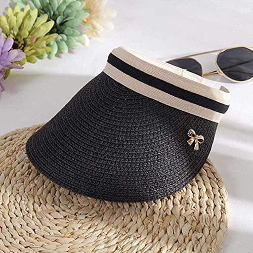 Beanie Mujer Sombreros de Sol Mujer Bowknot Visera Gorras Mano Gorra de Verano Sombra Superior vacía