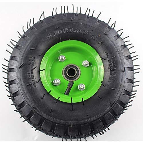 10 tum 4.10/3.50-4 uppblåsbart hjuldäck för vagnhjul släpvagnshjul 16 mm lagerbumpnav, Elektrisk skoter Däcktillbehör