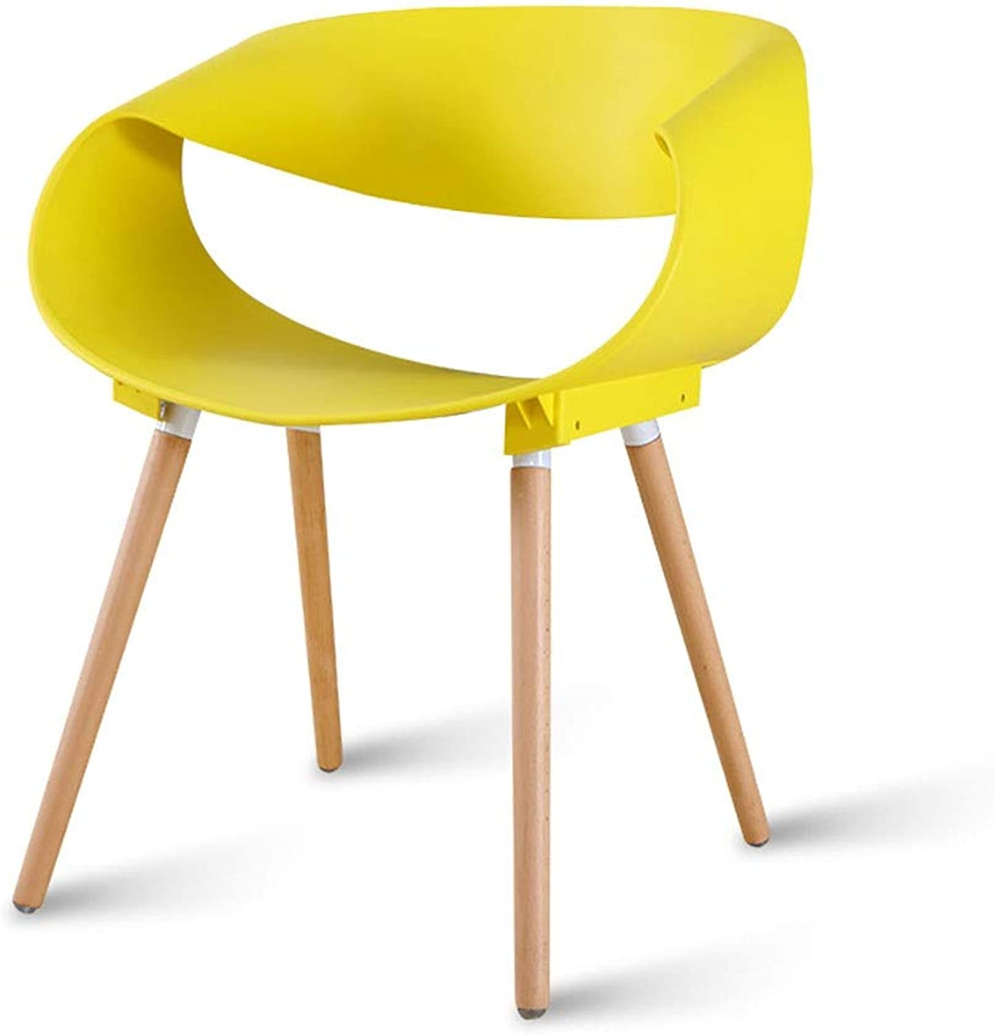 Home Desk Chair Restaurant Creative Lounge Chair Modern Simple Plastic Stool Backrest Chair Adult (color   Yellow)