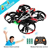 GEEKERA Mini Drone for Kids, 2 in 1 Remote + Gesture Control Helicopter