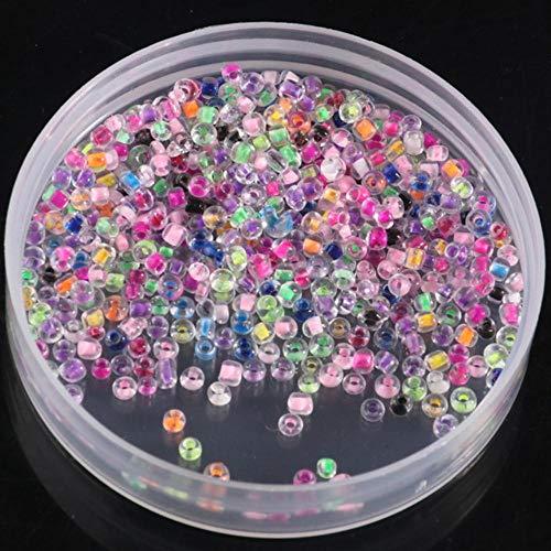 BTKNOO Perlas de 2 mm de macaroon, perlas delicadas, tubo de cuerno de alta calidad para manualidades, joyas, pulseras, accesorios de ropa.