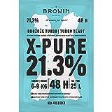 Un nuovo prodotto – Turbo X-Pure è un lievito di alta qualità per cuvées. Grazie all'elevata resistenza all'alcool, la miscela di lievito e sali nutrienti garantisce fino al 21,3% Per cuvées a base di zucchero, frutta e cereali – questa miscela appos...