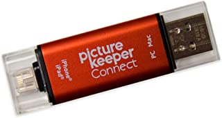Picture Keeper Connect 16GB Portable Flash USB Backup and Storage Device Drive for Mobile Phones Tablets and Computers (Red)