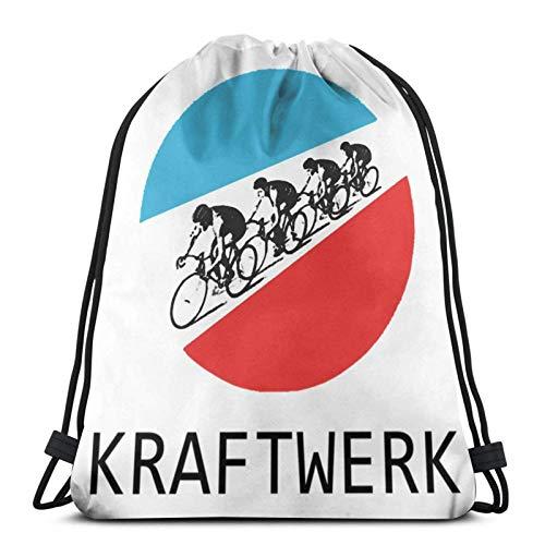 LREFON Gym Bag Kraftwerk Tour De France Leichter Schweiß Fabric Bag,Shoe Bag,Sports Bag,Boys & Girls,Includes Name Print,Customisable