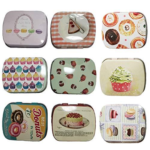 TooGet Elegant Portable Leerkästen, Mini-Boxen Für Heimwerker, Trockenlagerung, Gewürze, Sammlung, Süßigkeiten, Partyartikel Und Geschenke (9-Pack)