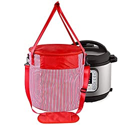 Red and White Striped Instant Pot Travel Bag | Instant Pot Accessories