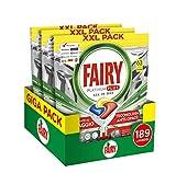 Fairy Platinum Plus Limone 189 Capsule per Lavastoviglie, Maxi Formato da 63x3 Caps di Detersivo