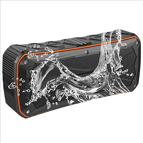 XFSE Drahtlose IPX6 wasserdichte Bluetooth Lautsprecher Mit Subwoofer 20w 4500mAh Dusche 12Hours Playtime Unterstützung TF U Scheibe AUX Input Spiel USB Bewegliches Mini Auflädt (Color : Black)