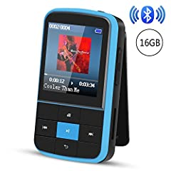 ♫ WEARABLE MP3 PLAYER: It is a small but mighty mp3 player, also a sport mp3 player with back clip, nice and springy, superior intuitive user interface is bright and readable, only 0.88oz, lightweight, included a sport armband, don't have to hold it ...