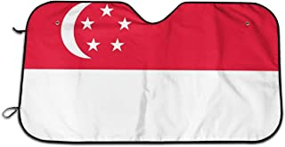 Singapore Flag Durable Car Windshield Sun Shade Blocks UV Rays Sun Visor Protector Vehicle Cool Heat Shield Shade